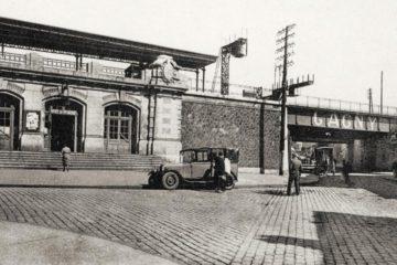 Une photo postale ancienne de la gare de Gagny